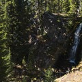 Obsidian Falls, Three Sisters Wilderness.- Chambers Lakes Hike via Obsidian Trailhead