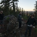 Hanging out at camp near Eileen Lake.- Eileen Lake + The Husband Lake Hike