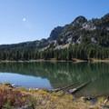 View of The Husband (7,524 ft) from Eileen Lake.- Eileen Lake + The Husband Lake Hike