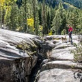 The ice caves are deeply-eroded cracks in the rock- The Grottos Hiking Trails