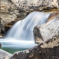 The rocks have been shaped by water- The Grottos Hiking Trails