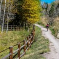 Typical scene along the East of Aspen Trail.- East of Aspen Bike Trail