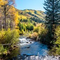 Roaring Fork River.- East of Aspen Bike Trail