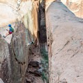 Rapelling past Morning Glory Arch.- Ephedra's Grotto / Medieval Chamber Canyoneering