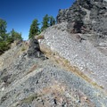 The last little scramble up to the summit of Sawtooth Mountain.- Sawtooth Mountain + Indigo Lake Hike