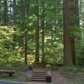 Trailhead for Linton Lake, located across the road from Alder Springs Campground.- Alder Springs Campground
