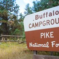 The entrance to Buffalo Campground.- Buffalo Campground