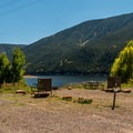 The Marina Campground sites.- Mollie B + Little Maud Campgrounds
