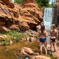 Enjoy a quick dip without walking far at all.- Mill Creek Swimming Holes