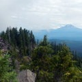 From the top there are great views of Mount Jefferson.- Middle Pyramid Hike