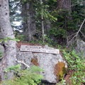 At the final junction, a sign points toward Middle Pyramid's double summit.- Middle Pyramid Hike