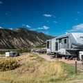 Typical Lakeview site is great for RVs.- Rifle Gap Campground