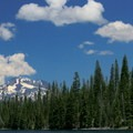 View of South Sister from Lucky Lake.- Lucky Lake Hike