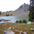 Camping along the shore of Gore Lake. - Gore Lake Hike via the Gore Creek Trail