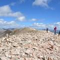 Mount Sherman summit at (14,036 ft).- Mount Sherman Hike via Iowa Gulch