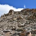 Scree field.- Mount Sherman Hike via Iowa Gulch