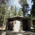 Vault toilets. - Baby Doe Campground on Turquoise Lake