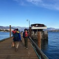 Getting on the ferry in Chelan.- Purple Pass Hiking Loop