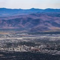 Overlooking downtown Reno from Peavine Peak.- Peavine Peak Hike on Peavine Mountain