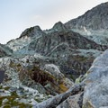 The emergency hut and Camp 1 come into view.- Golden Ears Summit Hike