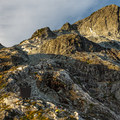 The north face of Golden Ears gets the morning light.- Golden Ears Summit Hike