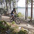 Mountain biking on the Turquoise Lake Trail.- Turquoise Lake Trail Mountain Bike Ride