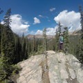 This Gore Range overlook is a great spot to rest and take in the view.- East Vail to Frisco Thru Hike via Eccles Pass