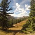 Looking back at East Vail near the summit of Red Buffalo Pass.- East Vail to Frisco Thru Hike via Eccles Pass