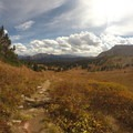 Copper Mountain in the distance once over Eccles Pass.- East Vail to Frisco Thru Hike via Eccles Pass
