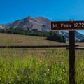 Mount Peale from the trailhead.- Mount Peale Summit Hike