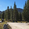 This is also the entry to the Albion Basin Campground.- Cecret Lake