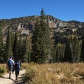 The trail is popular all summer and fall.- Cecret Lake