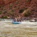 The action picks up at Cloudburst Rapid.- Colorado River: Moab Daily Section