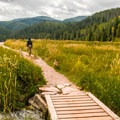 The loop trail starts right next to the campground.- Sylvan Lake Loop Trail
