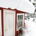 Shared sauna for guest use.- 10th Mountain Division Ski Huts