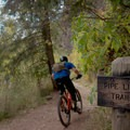 Top of the trail, heading back down.- Mill Creek Pipeline Mountain Bike Trail via Rattlesnake Gluch