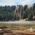 Desolation Lake, your goal.- Desolation Lake Mountain Bike Ride