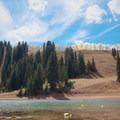 Desolation Lake on the way down.- Desolation Lake Mountain Bike Ride