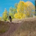 Crest above the lake.- Desolation Lake Mountain Bike Ride