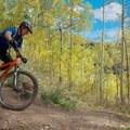 One of the switchbacks.- Desolation Lake Mountain Bike Ride