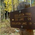 Desolation trailhead on Mill D.- Desolation Lake Mountain Bike Ride