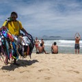 Swimsuits for sale at the beach.- Ipanema Beach