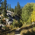 Fall color along the Lake Mary Trail.- Lake Mary, Lake Martha + Lake Catherine via Catherines Pass Trail