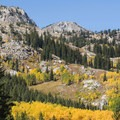 Beautiful fall colors on the Lake Mary Trail.- Lake Mary, Lake Martha + Lake Catherine via Catherines Pass Trail