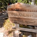 Indian Peak Wilderness entrance along the trail.- Mount Audubon Hike