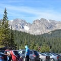 Brainard Lake Day Use parking lot.- Mount Audubon Hike
