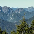 Crown Mountain and the Lions from Brockton Point.- Mount Seymour Summit Hike