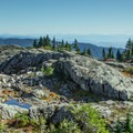 The view east from Mount Seymour's First Peak.- Mount Seymour Summit Hike