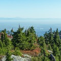 Looking back at First Peak from Second Peak.- Mount Seymour Summit Hike