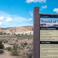 The start of the Sound of Silence Trail.- Sound of Silence Trail